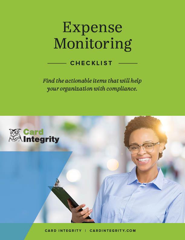 expense monitoring checklist